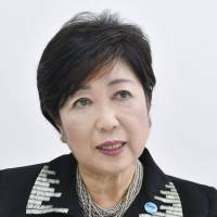 Tokyo Gov. Yuriko Koike, founder of Kibo no To (Party of Hope), is interviewed in Tokyo on Monday. | KYODO