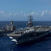 MSDF drills with U.S. aircraft carrier amid North Korea tensions