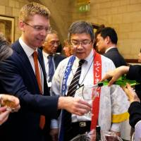 Fukushima sake served and savored at U.K. Parliament