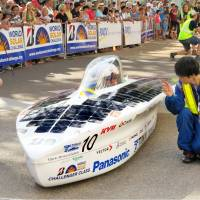 Tokai University's Tokai Challenger solar car sets out Sunday from the northern Australian city of Darwin on a 3,000-km endurance race through the center of the continent. | KYODO