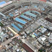 The Tokyo Metropolitan Government has decided that the operations of the Tsukiji fish market will be moved to the new Toyosu facility between September and October 2018. | KYODO