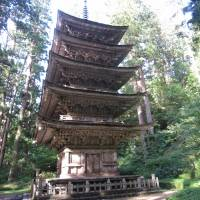 No small feat: The five-story pagoda of Mount Haguro is said to have inspired the Tokyo Skytree. | KATHRYN WORTLEY