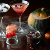 The Oak Door Bar's lineup of spooky Halloween cocktails.
