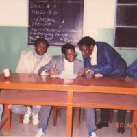 Sacko chairs a General Union of African Students meeting in 1990.