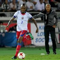 Haiti's Donald Guerrier dribbles on Tuesday. | AFP-JIJI