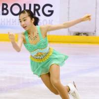 Rino Kasakake, a 16-year-old from Nagoya, captured the bronze medal at the Junior Grand Prix in Gdansk, Poland, last week in her JGP debut. | KYODO