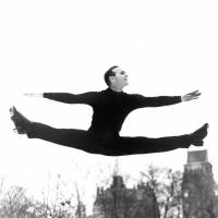 American Dick Button was the last man to win two consecutive Olympic gold medals in figure skating, accomplishing the feat in 1948 and 1952. | DICK BUTTON COLLECTION