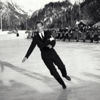 Dick Button, seen here at the age of 18 competing at the 1948 Winter Games in St. Moritz, Switzerland, remains the youngest man ever to win the Olympic gold medal. | DICK BUTTON COLLECTION
