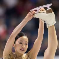 Marin Honda finished fifth in her senior Grand Prix debut at Skate Canada, but moved analysts with her line and edge. AFP-JIJI | AFP-JIJI