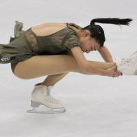 Kaori Sakamoto finished fifth in her senior Grand Prix debut at the Cup of Russia in Moscow on Saturday. | AP
