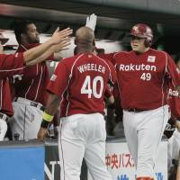 The Eagles entered Monday with eight games remaining on the schedule, more than any other NPB team. The Orix Buffaloes were next with five. | KYODO