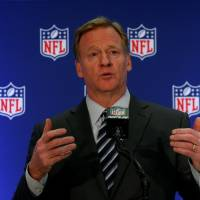 NFL commissioner Roger Goodell speaks during a news conference following the NFL owners autumn meeting in New York City Wednesday. | REUTERS