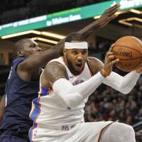 Oklahoma City's Carmelo Anthony, acquired from  the Knicks, was a part of one of the high-profile trades in a busy NBA offseason. | USA TODAY / VIA REUTERS