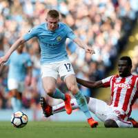 Man City's De Bruyne in a league of his own