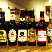 Many kinds of beer available