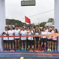 TZS President Okumura and Staff Join the Marathon