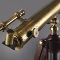 In this undated photo provided by Christie's Images LTD. 2017, physicist Albert Einstein's telescope is shown. The item will go up on the block in New York City on Dec. 5. | CHRISTIE'S IMAGES LTD. 2017 / VIA AP