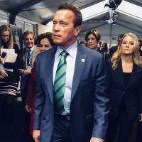 Film star and former California Gov. Arnold Schwarzenegger arrives at the COP23 U.N. climate conference in Bonn, Germany, Sunday. Schwarzenegger is attending a COP23 Presidency event on health and climate called Health Actions for the Implementation of the Paris Agreement. | AP