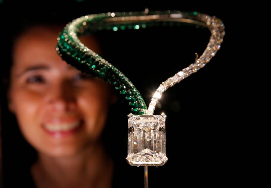 Largest diamond ever auctioned fetches record $34 million at Christie's in Geneva
