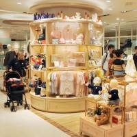 Items for babies and children are arranged by use and age rather than brand in the Takashimaya department store in Shinjuku Ward, Tokyo. | KYODO