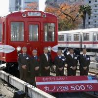 Tokyo Metro shows off 60-year-old subway cars