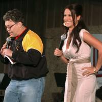 In this image provided by the U.S. Army, then-comedian Al Franken and sports commentator Leeann Tweeden perform a comic skit for service members during the USO Sergeant Major of the Army's 2006 Hope and Freedom Tour in Camp Arifjan, Kuwait, on Dec. 15, 2006. Sen. Al Franken, D-Minn., apologized Thursday after Tweeden accused him of forcibly kissing her during the 2006 USO tour. | STAFF SGT. PATRICK N. MOES / U.S. ARMY / VIA AP