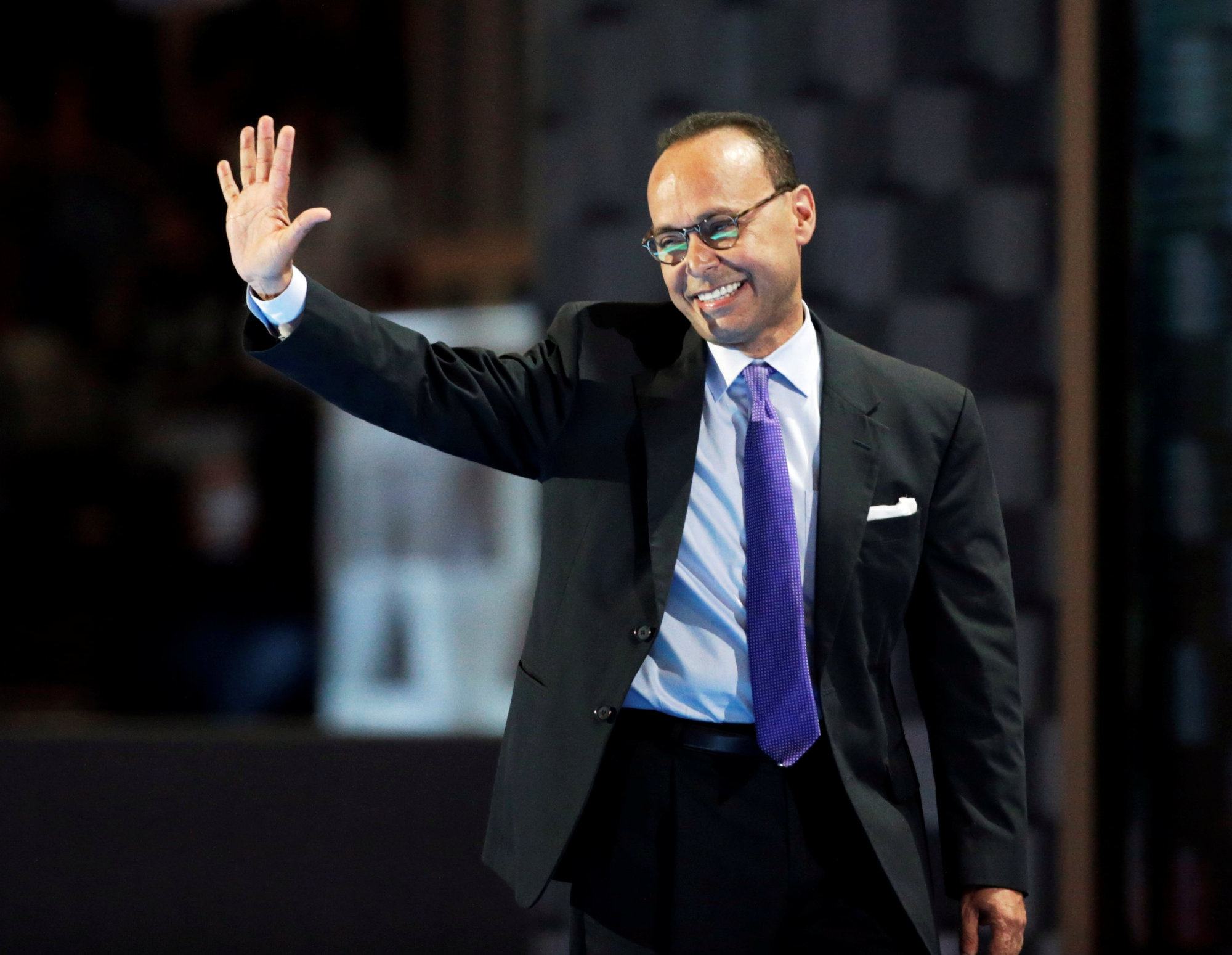 U.S. Rep. Luis Gutierrez (D-IL) waves after speaking at the Democratic National Convention in Philadelphia in 2016.   REUTERS
