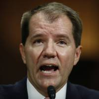 Don Willett testifies during a Senate Judiciary Committee hearing on nominations on Capitol Hill in Washington Wednesday. Willett has been nominated to the United States circuit judgeship for the Fifth Circuit. | AP