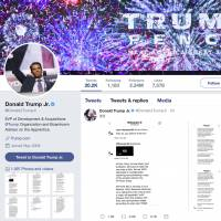 This image of Donald Trump Jr.'s Twitter account shows a series of direct messages he received from the Twitter account behind the WikiLeaks website, including his responses to the communications, which he posted on Monday. The direct messages had been turned over to congressional committees investigating Russian intervention in the 2016 election and if there were any links to Donald Trump's campaign. | DONALD TRUMP JR.'S TWITTER ACCOUNT / VIA AP