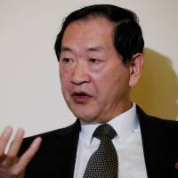 North Korean Ambassador to the United Nations Han Tae Song attends an interview at the Permanent Mission of North Korea in Geneva on Friday. | REUTERS