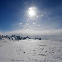A frozen section of the Ross Sea is viewed on Nov. 12 at the Scott Base in Antarctica. | AFP-JIJI