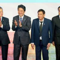 ASEAN Plus Three leaders condemn North Korean nukes as Abe urges more pressure