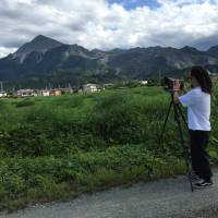 Guitarist Shin Sasakubo photographs Mount Buko in Chichibu, Saitama Prefecture. The mountain, considered a sacred symbol of the region, is being mined by cement companies for its limestone. | COURTESY OF SHIN SASAKUBO