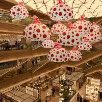 New shopping complex Ginza Six is unveiled to the media in April. | SATOKO KAWASAKI