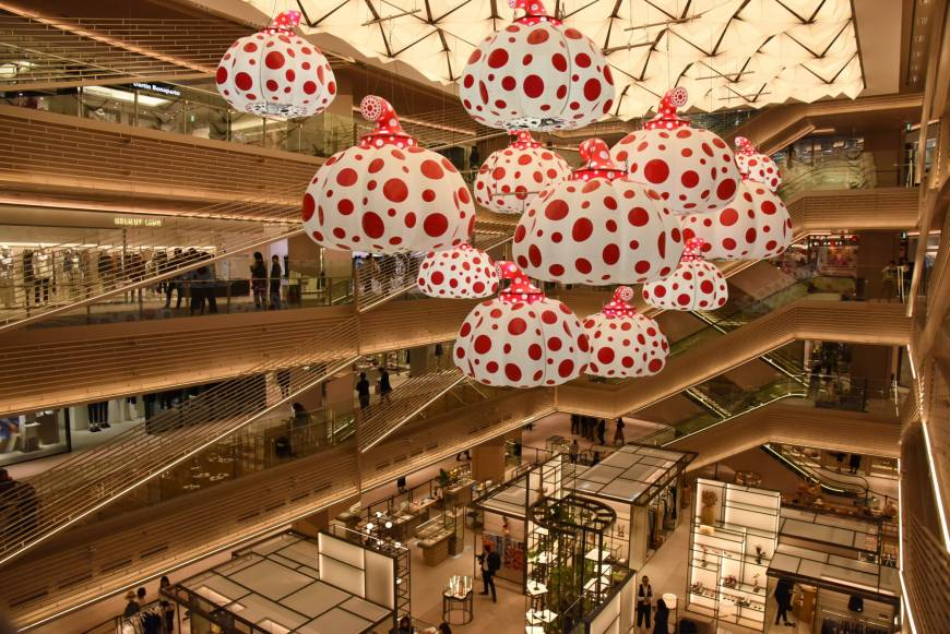 New shopping complex Ginza Six is unveiled to the media in April.