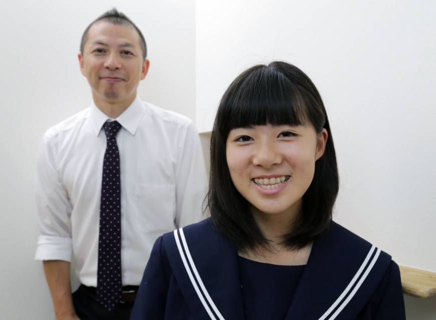 With two patents under her belt, Aichi junior high school girl looks to help other inventive kids