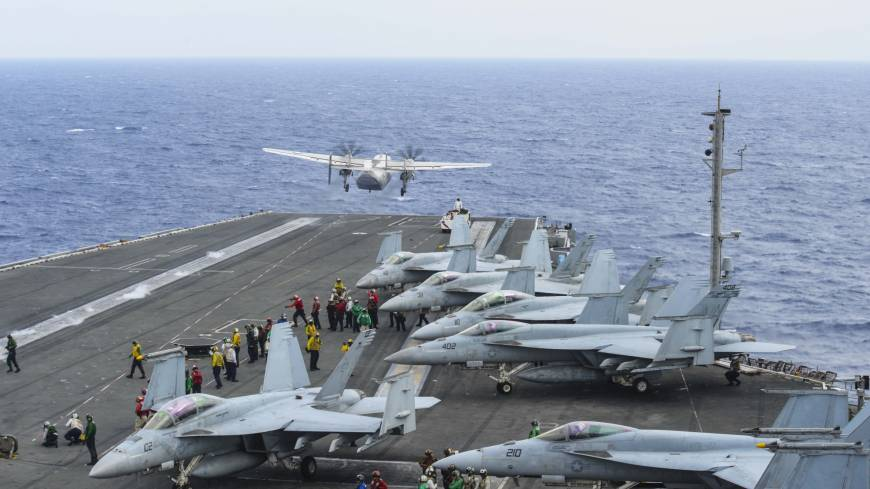 U.S. Navy plane crashes into the sea southeast of Okinawa leaving three missing