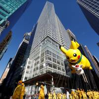 Pikachu also joined the Thanksgiving Day Parade in New York. | REUTERS