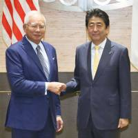 Abe seeks Malaysia's support to fast-track TPP