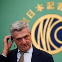 UNHCR chief praises Japan's willingness to address 'most serious refugee crisis since '90s'