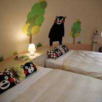 Interior of a quake-resistant dome house decorated with Kumamon is pictured at the Aso Farm Land Kumamoto Prefecture. | REUTERS