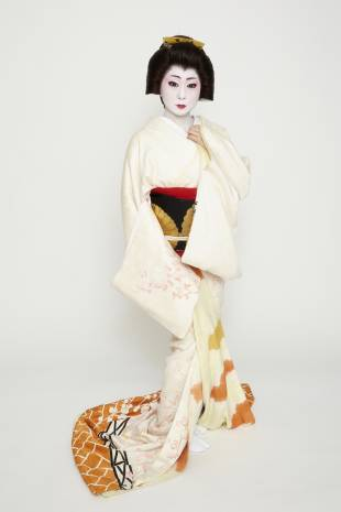 Dressed to the nines: Geisha Kikuno launched Kagai Restoration Project in Ganrinin in 2012 to revitalize geisha culture in Nara.