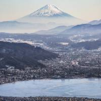 A view of Mount Fuji from the top of Takabocchi Kogen. | BEN BEECH