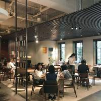 Tea with a twist: Customers drink various forms of green tea at the Suntory group's Iemon Salon Kyoto, which offers meals and sweets that match with tea, as well as tea-based  alcoholic cocktails. | KYODO