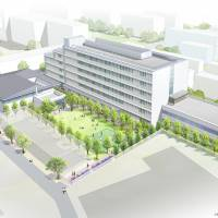 New Temple: The architect's vision of how the new Temple University Japan building, just outside Showa Women's University in Setagaya Ward, Tokyo, will look. | © FURUHASHI ARCHITECT & ASSOCIATES / COURTESY OF TEMPLE UNIVERSITY, JAPAN CAMPUS