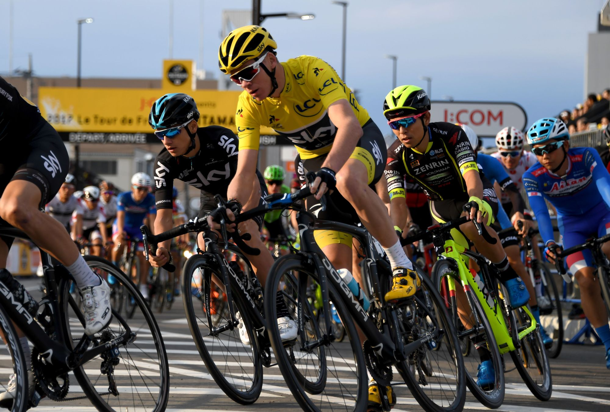 Britain's Chris Froome competes in the Saitama Criterium road race on Saturday. | AFP-JIJI