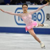 Three-time national champion Satoko Miyahara struggled to a fifth-place finish on Saturday at the NHK Trophy in her first competition in nearly 11 months following a hip injury. | AFP-JIJI