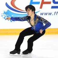 Shoma Uno fell in both the short program and free skate at the Internationaux de France in Grenoble last week but still qualified for next month's Grand Prix Final in Nagoya. | AFP-JIJI