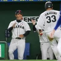 Atsunori Inaba was successful in his first stint as a manager, leading Samurai Japan to the title at the inaugural Asia Professional Baseball Championship on Sunday. | KYODO