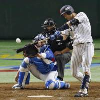 Japan's Shuta Tonosaki, who drove in two runs and had two hits in Sunday's final, was named the Asia Professional Baseball Championship MVP after the game. | KYODO